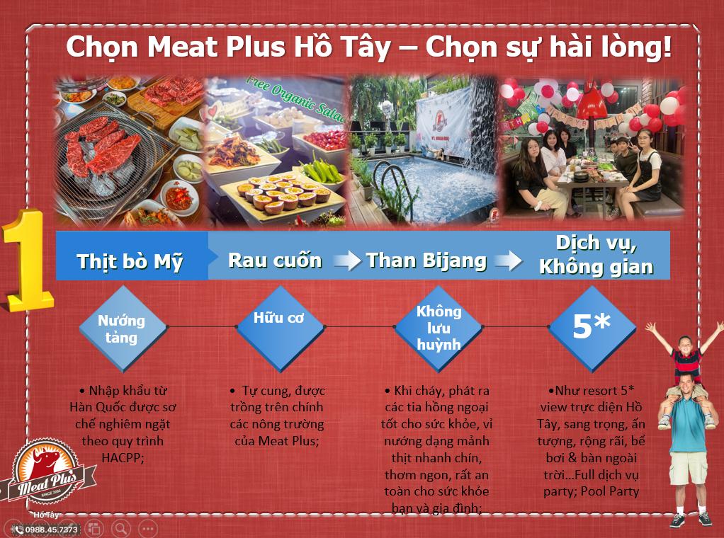 Thưởng thức thịt nướng Hàn Quốc Meat Plus chuẩn vị ngay giữa lòng Hà Nội