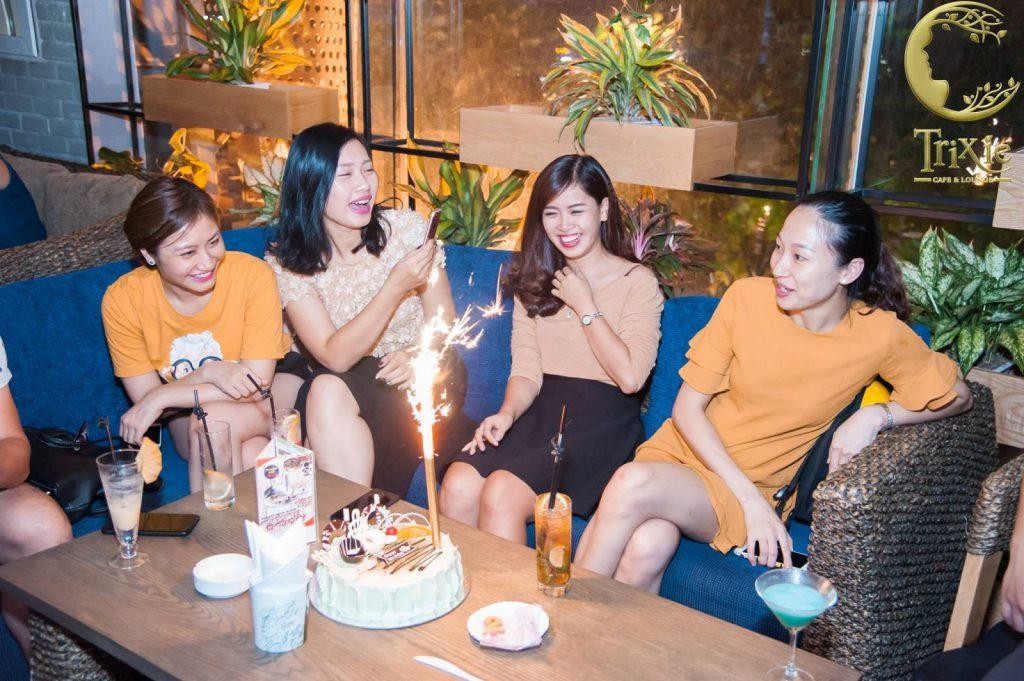 Trixie Cafe & Lounge là quán ăn tổ chức sinh nhật cực đặc biệt