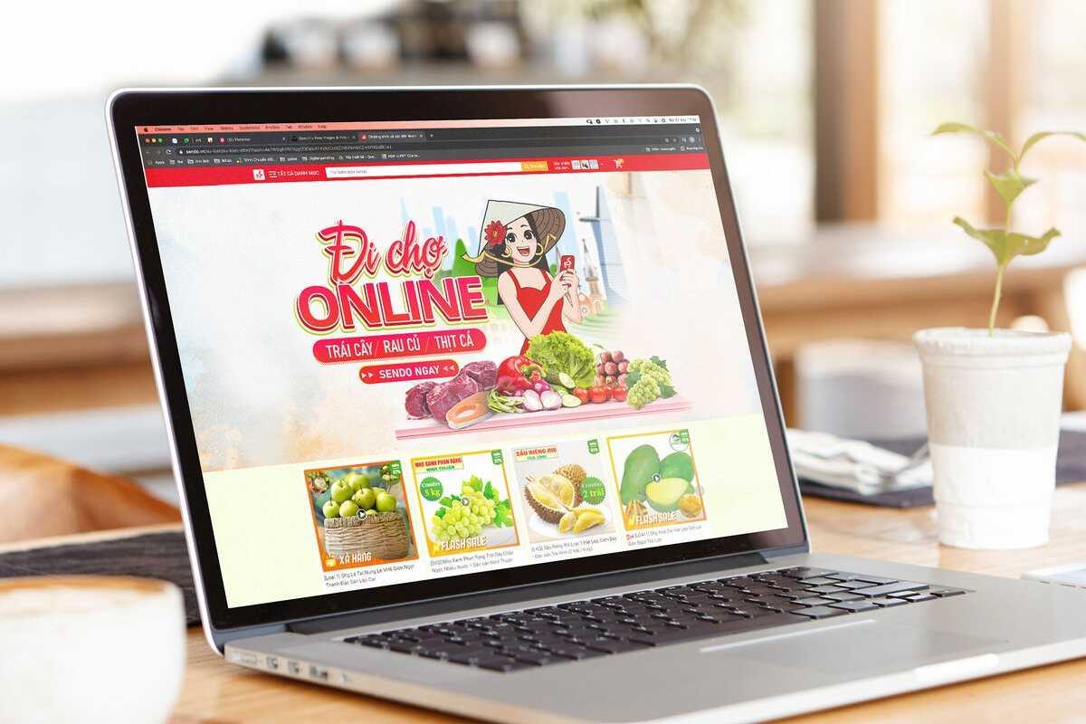 Thực phẩm mua online khá đa dạng như rau củ quả, thịt, cá, hải sản, đồ chế biến sẵn.
