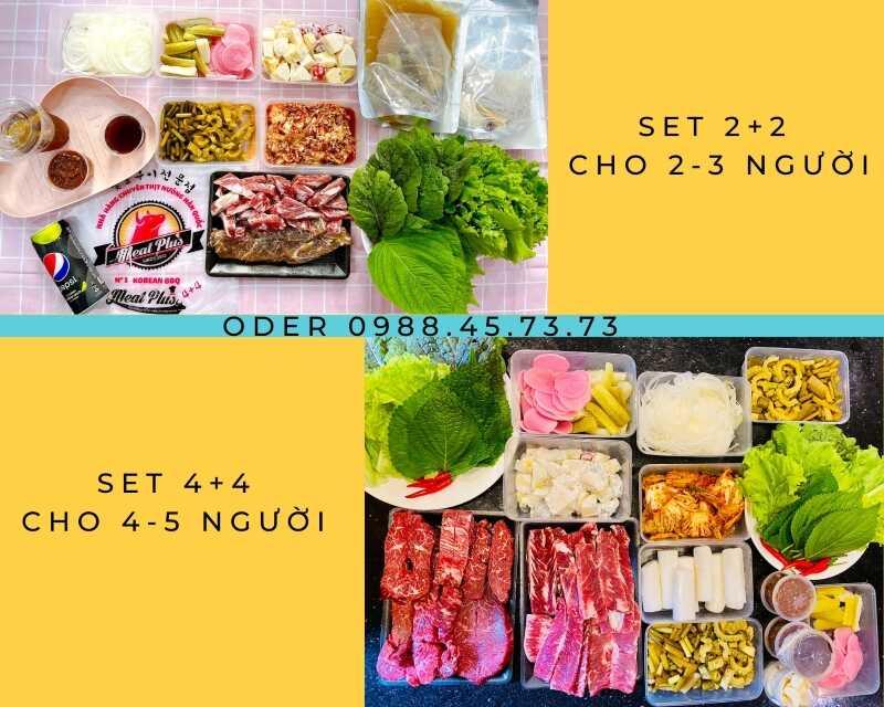 Meat Plus No1 Korean BBQ - Hồ Tây đang ship online các set 2+2 và 4+4